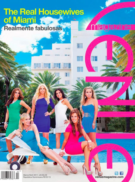 Alexia Echevarria's Venue magazine featurin The real Housewives of Miami