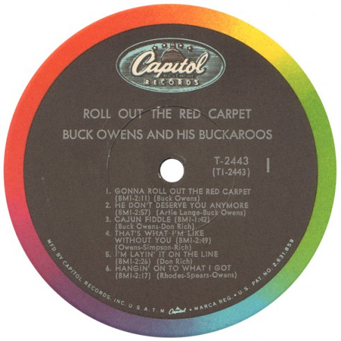 Buck Owens and the Buckaroos Roll Out the Red Carpet Side 1