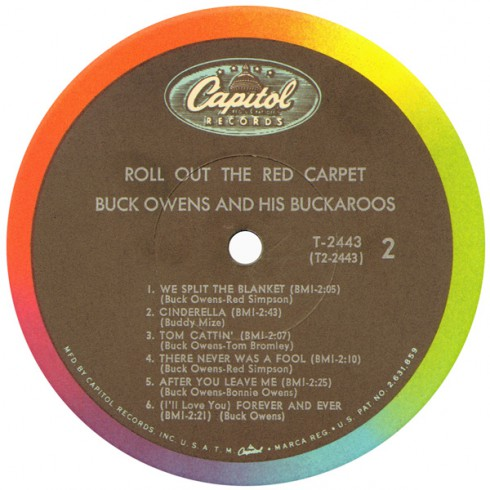 Buck Owens and the Buckaroos Roll Out the Red Carpet Side 2