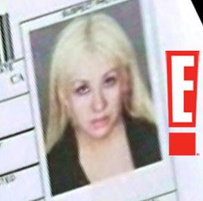 Christina Aguilera booking photo from her March 1 2011 arrest