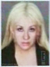 Christina Aguilera mug shot from her March 1 2011 arrest