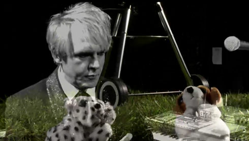 David Lynch films puppets singing with Duran Duran