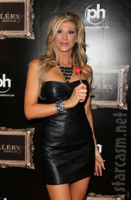 RHOC Alexis Bellino wears a leather dress on the red carpet Picture 12 of 12