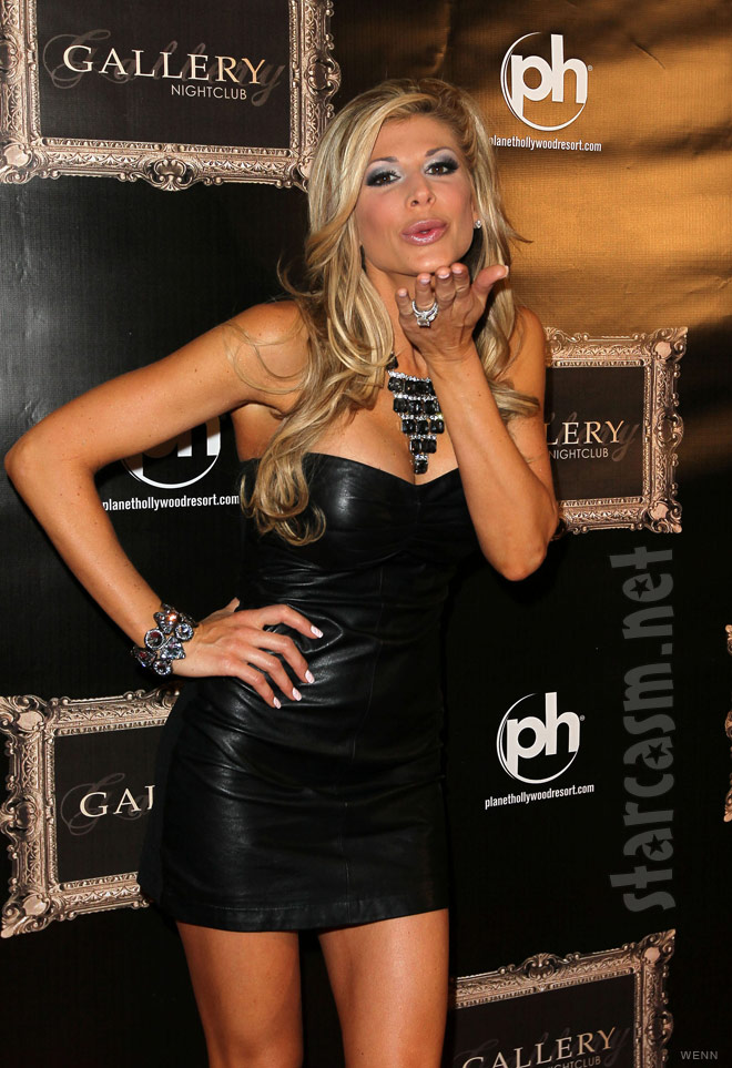 RHOC Alexis Bellino wears a leather dress on the red carpet Picture 11 of 12