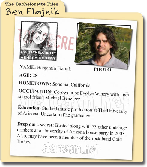 The Bachelorette's Benjamin Flajnik bio and background information