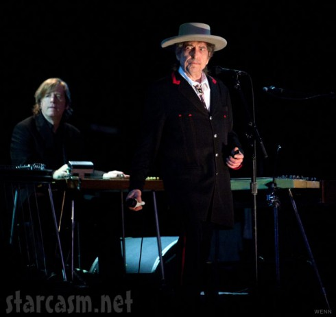 Bob Dylan performs on the final day of the 2011 Byron Bay Bluesfest in Australia