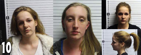 Mug Shot Photos of Jenelle Evans brawlers Britany Truett and Brittany Maggard