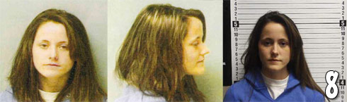 Jenelle Evans 2011 mug shot photos from the Teen Mom Brawl