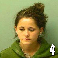 Teen Mom Jenelle Evans mug shot photo from 2010