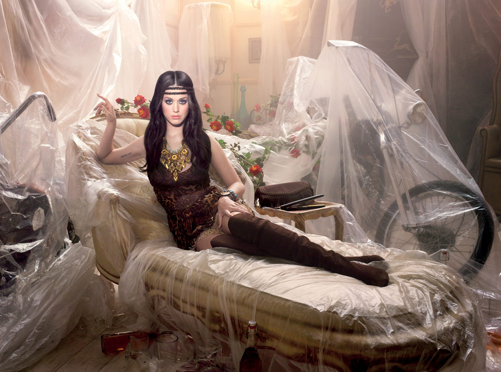 Katy Perry pays tribute to the 1970s in a David LaChapelle photo for ghd