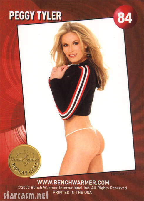 Peggy Tyler 2002 Bench Warmer Replay Card back