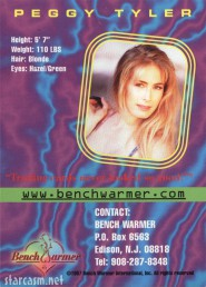Peggy Tyler 1997 Authentic Autograph Bench Warmer trading card back