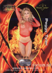 Peggy Tanous as Peggy Tyler Bench Warmer HOTTIES Liquid FX card