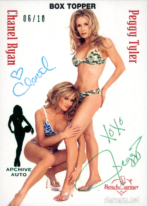 Peggy Tyler and Chanel Ryan limited edition Archive Auto Bench Warmer autographed card