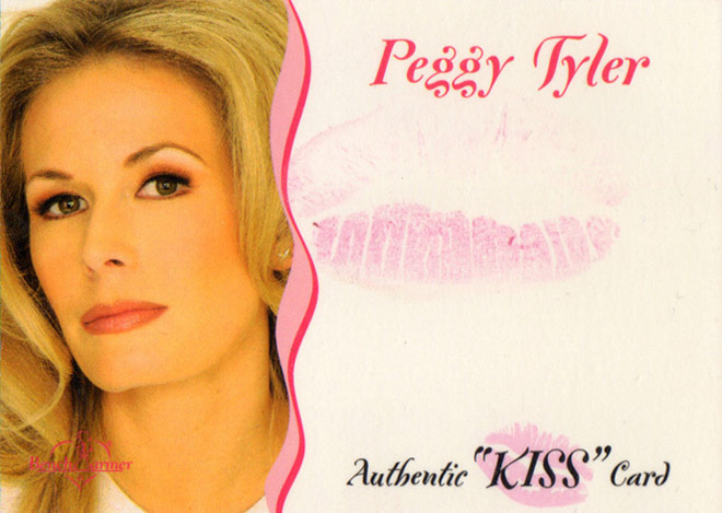 2003 Bench Warmer Peggy Tyler Authentic Kiss card