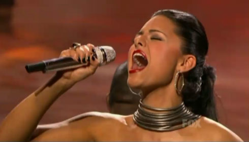 "American idol's Pia Toscano showed she could rock with Tina Turner's ""River Deep Mountain High"""
