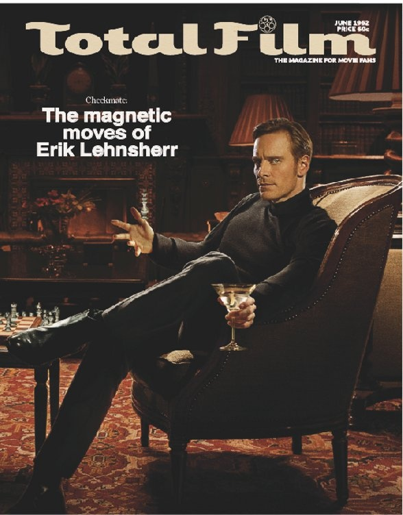 Total Film X-Men: First CLass magazine cover with Magneto Erik Lehnsherr