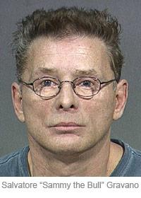 Sammy the Bull mug shot from Salvatore Gravano's 2000 arrest in Arizona