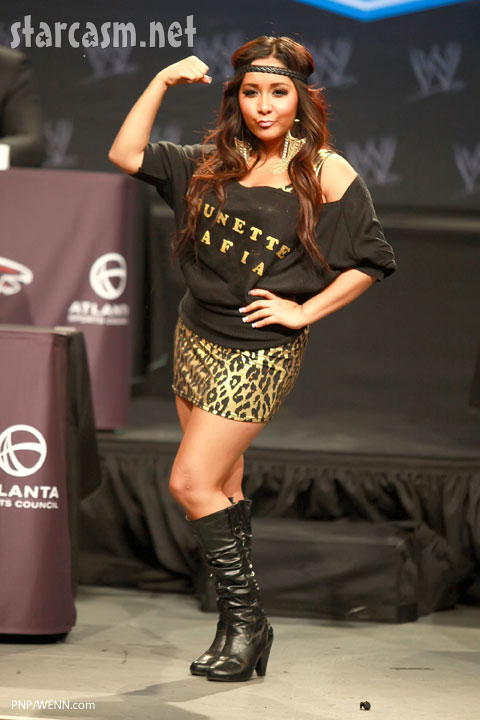 Jersey Shore's Snooki at Wrestlemania
