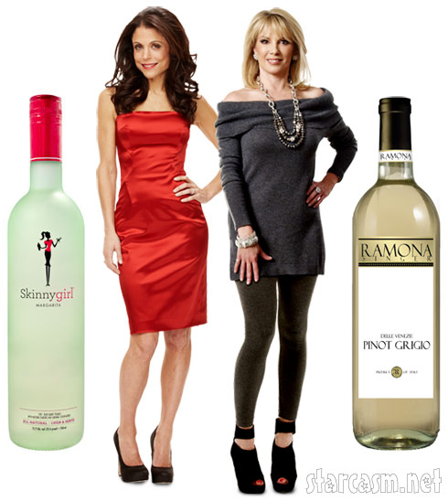 Bethenny Frankel and Skinny Girl cocktails vs. Ramona Singer Pinot Grigio