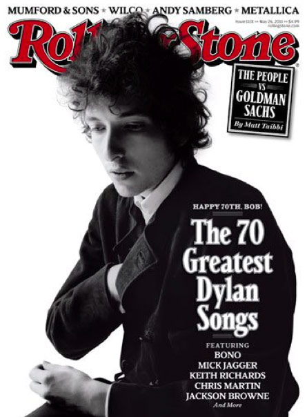 Rolling Stone's cover in dedication of Bob Dylan's 70th birthday