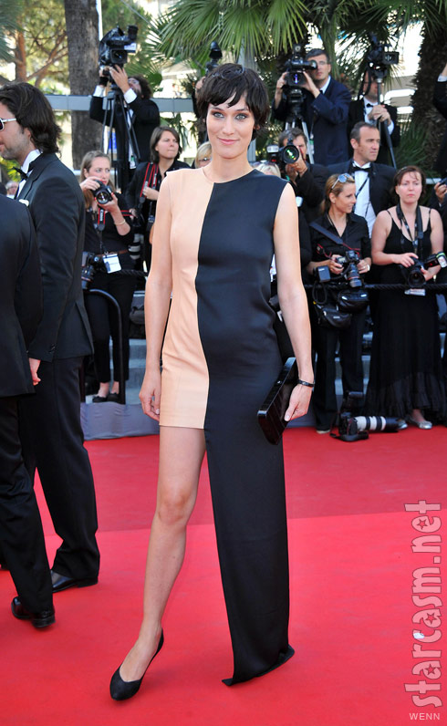 Clotilde Hesme fashion fail at 2011 Cannes premiere of This Must Be the Place