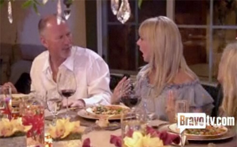 Vicki Gunvalson and husband Donn Gunvalson at their dinner from Hell