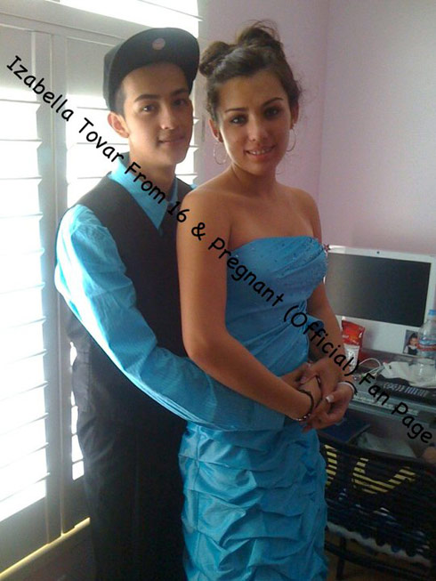 16 and Pregnant's Izabella Tovar goes to prom in 2010 18 weeks pregnant