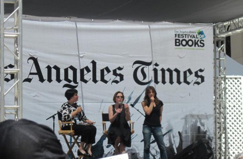 Jillian Michaels speaks at the LA Times Festival of Books