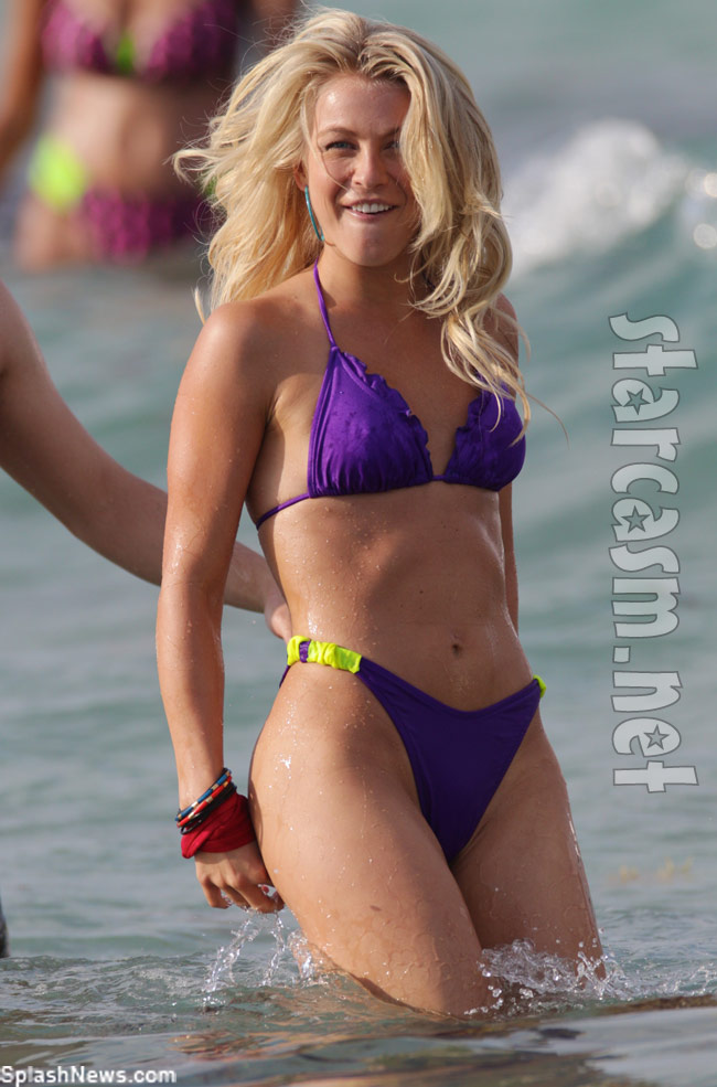 Actress and dancer Julianne Hough rocks a bikini for Rock of Ages