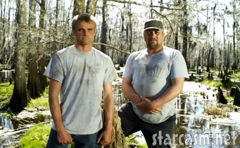 Junior Edwards (right) and his som Willie Edwards from the reality series Swamp People