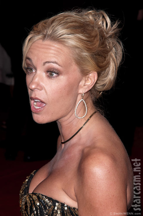 Kate Gosselin makes a funny face at the 2011 Barnstable-Brown Gala