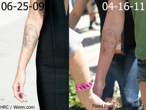 Megan Fox's Marilyn Monroe tattoo