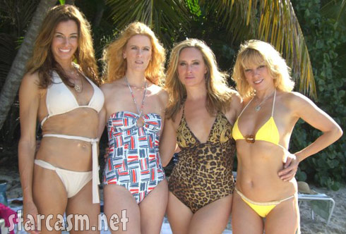 Real Housewives of New York Kelly Alex Sonja and Ramona in swimsuits