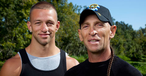Jay Paul Molinere and RJ Molinere from Swamp People