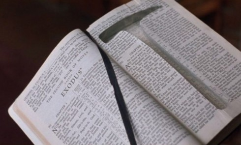 Shawshank Redemption Bible that held Andy Dufresne's rock hammer