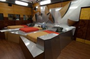 The Big Brother 13 house features a bizarre metal and wood themed bedroom
