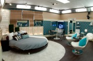 Shaggadelic blue Head of Household bedroom from Big Brother Season 13