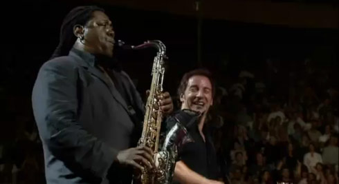 bruce springsteen clarence clemons born to run. ruce springsteen clarence