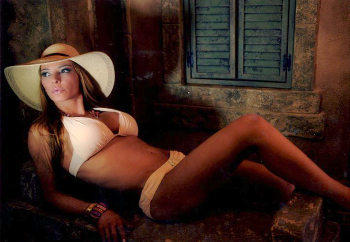 Mob Wives' Drita D'Avanzo poses in a bikini for a calendar