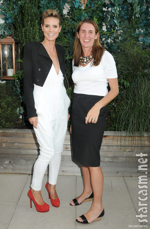 Lifetime network president Nancy Dubuc and Project Runway host Heidi Klum in 2010