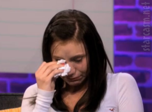 Jamie McKay gets emotional at the 16 and Pregnant Season 3 Reunion Special with Dr. Drew