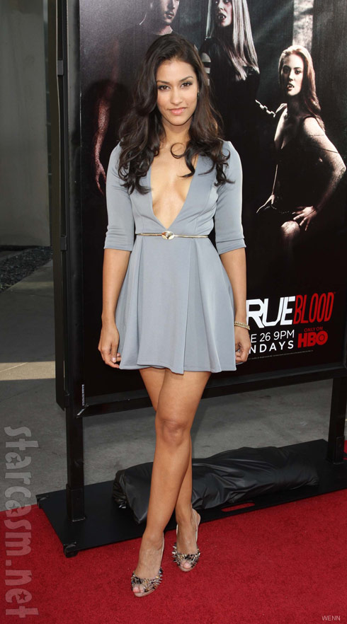 Actress Janina Gavankar at the True Blood Season 4 Premiere red carpet photo