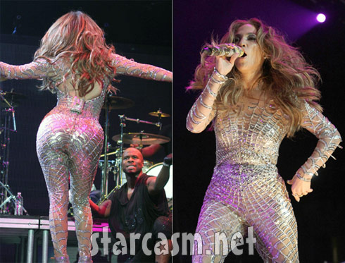 JLo stuns at Wango Tango in a webbed skin-tight costume