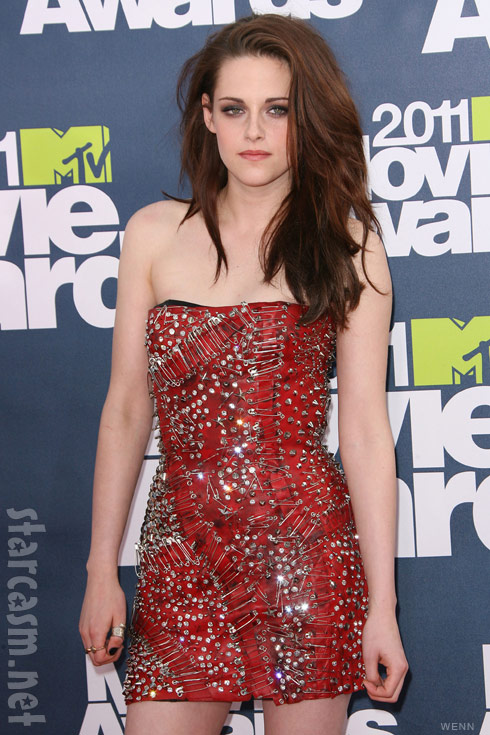 Kristen Stewart safety pin dress