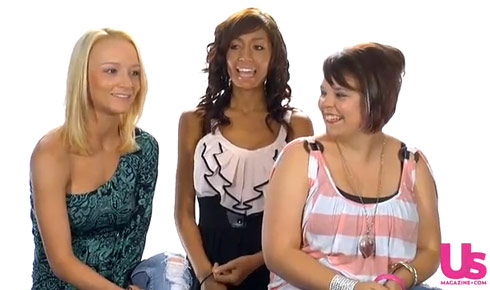 Teen Mom stars Maci Bookout Farrah Abraham and Catelynn Lowell give an interview