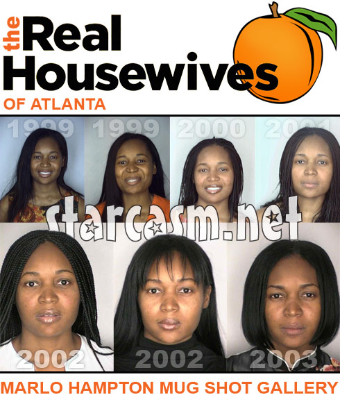 Real Housewives of Atlanta&#039;s Marlo Hamptons 7 mug shot photos from 1999-2003