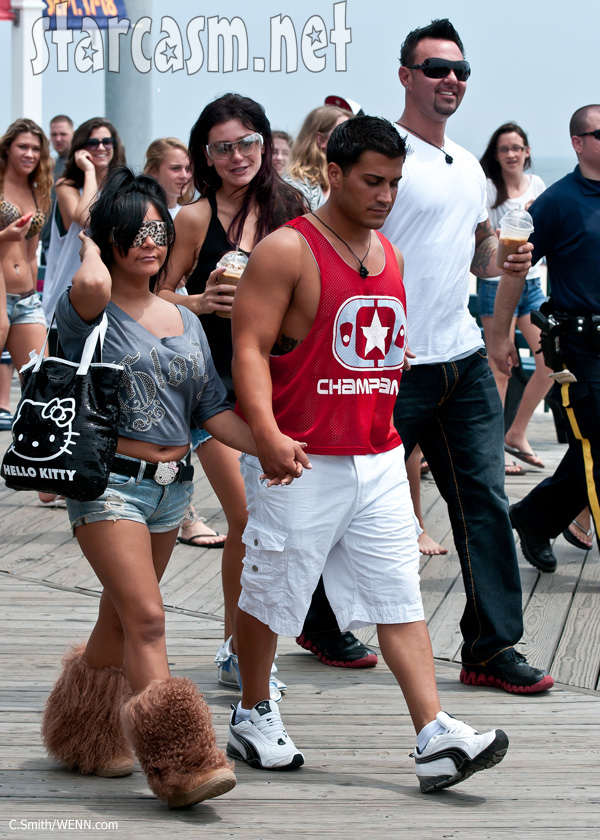 Snooki and Jionni back together Seaside heights furry boots