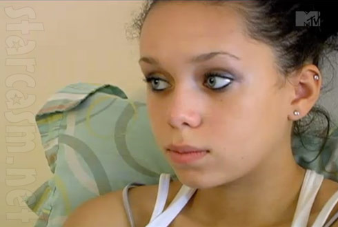Screen capture of Taylor Lumas from 16 and Pregnant Season 3