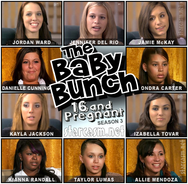The 16 and Pregnant Season 3 girls in The Brady Bunch photo